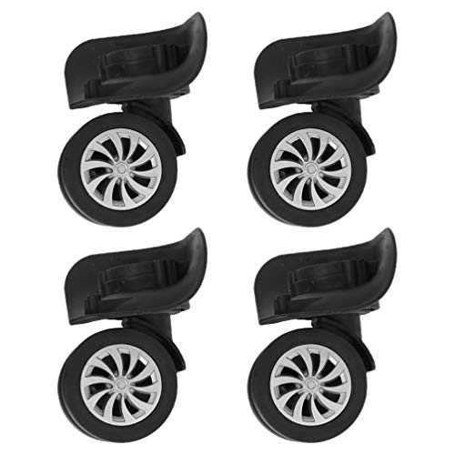 Wakauto 4pcs Suitcase Wheels Spare Wheels Luggage Replacement Swivel Wheels Casters Luggage Travel Suitcase Wheels 2.4 Inch, Replacement Outdoor Caster Wheel