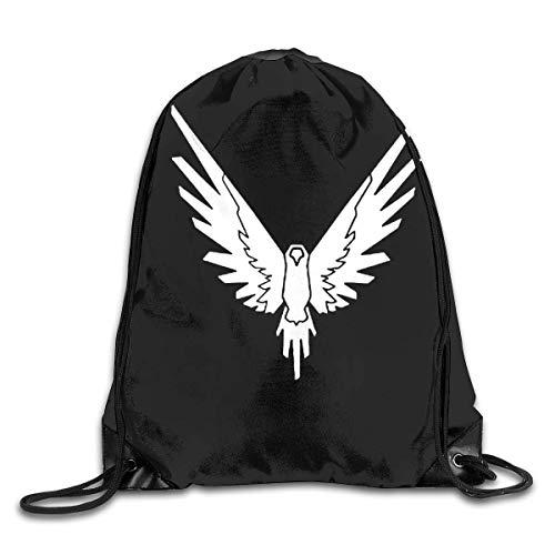 JHUIK Maverick Logang Collection Gym Drawstring Backpack Shoulder Bags
