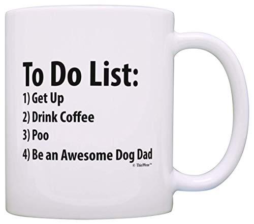 """Tasse mit Aufschrift \""""Dog DadTo Do List\"""", witzig, mit englischer Aufschrift \""""Be Awesome List\"""", Weiß"""