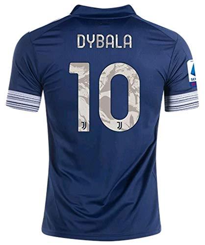 LISIMKEM 2020-2021 Kids/Youths Away Soccer Jersey/Short/Socks Colour Navy (Dybala #10(1-3years/size16))