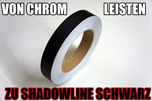 Shadowline-Tape© von CCW© für die Chromleisten/Zierleiten Ihres Fahrzeuges – folieren Sie selbst mit ORACAL© (MATT-SCHWARZ – 1CM)