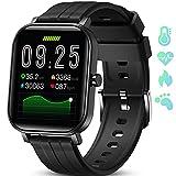 GOKOO Reloj Inteligente Hombres Smartwatch Monitor de Actividad con 24 Modos Deportivos Pulsómetro Calorías Monitor de Sueño Podómetro IP67 Impermeable Reloj Compatible con Android iOS (Negro)
