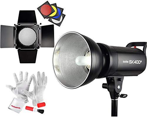 【技適マーク】Godox SK400II スタジオストロボ フラッシュライト2.4GワイヤレスXシステ ム内蔵 光量調節可...