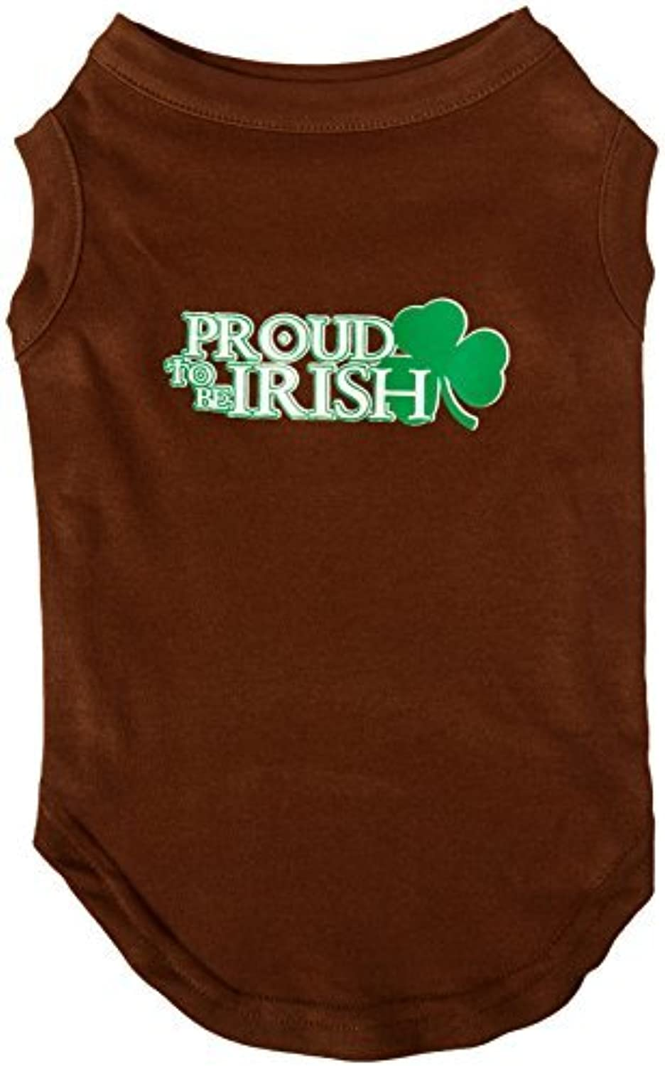Mirage Pet Products 14Inch Kiss Me I'm Irish Screen Print Shirt for Pets, Large, Brown by Mirage Pet Products