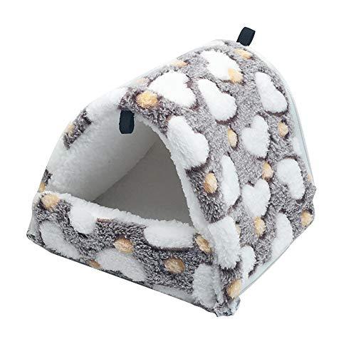 LeerKing Kleintier-Nest zum Aufhängen, Eichhörnchen-Hamsterhaus, Schlafkäfig, Hamster-Hängematte für Chinchillas, Zuckergleiter, Braun L