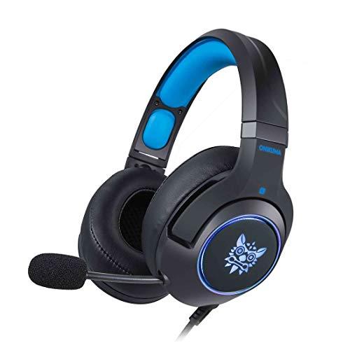 Juzhang Gaming Headhones Bass Surround Micrófono con Aislamiento de Ruido sobre la Oreja Luz LED Auricular Negro for PC PS4, Xbox One (Color : Black)