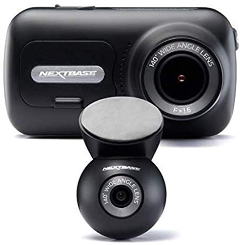 Nextbase 322GW Dash Cam Front and Rear Camera- Full 1080p/60fps HD In Car Camera- WiFi Bluetooth GPS- SOS Emergency Response, Intelligent Parking Mode, G-Sensor- 280° / 360 Dual 6 Lane Wide Recording