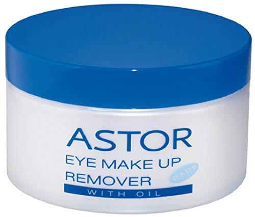Astor Eye Make up Remover Pads with Oil, Augen-Make-up Entferner mit Öl, Für super sanftes Abschminken, 1 x 50 Stück