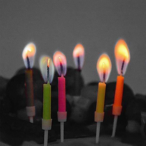 ARTIFUN 12 STKS Kleurrijke Vlam Verjaardag Kaars Geurloos Huishoudelijke Party Kaars