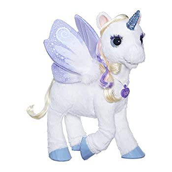 furReal StarLily My Magical Unicorn Interactive Plush Pet Toy Light-up Horn Ages 4 and Up Amazon Exclusive