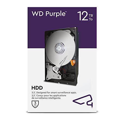 WD Purple 12 To disque dur interne de surveillance 3,5'' - AI AllFrame - 360To/an, cache de 256Mo, classe 7200 RPM
