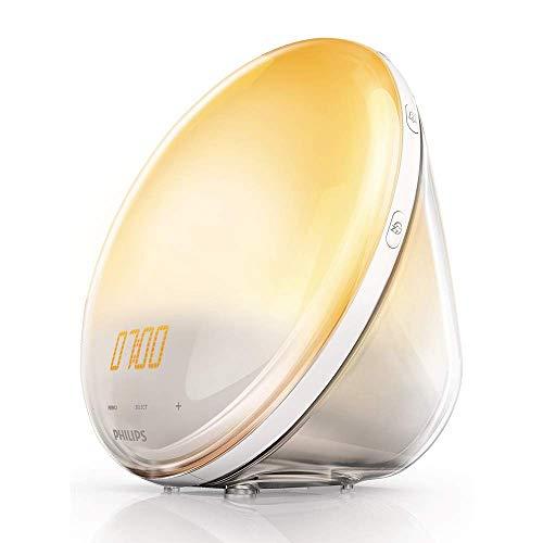 Philips HF3520/01 Wake-Up Light con Radio FM - Lampada da risveglio