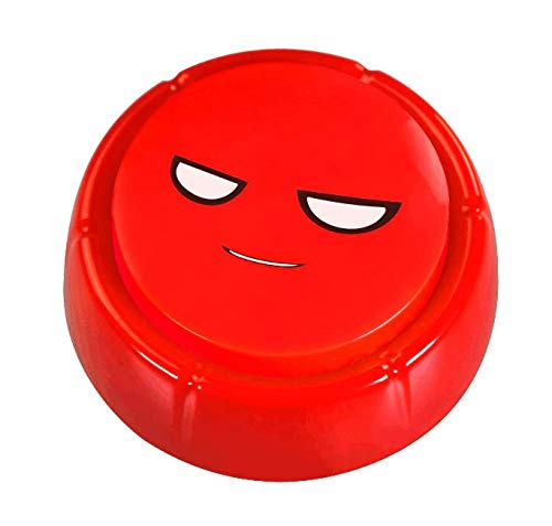 RIBOSY Laugh Button - Evil and Wicked Laughs Sound Effects - Unbound,Untamed,Unusual Noise Maker (Battery Included)