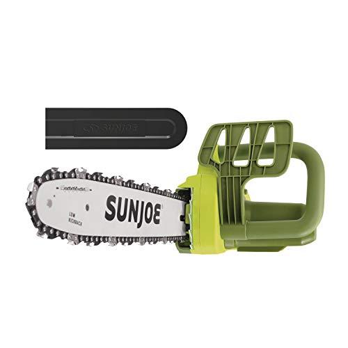 Sun Joe SWJ599E 14inch 9Amp Tree Limb Master Electric Handheld Chainsaw with LowKickback