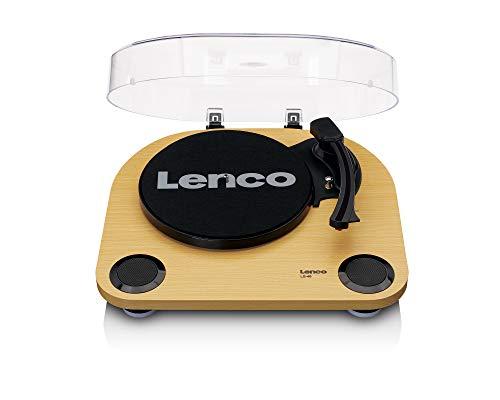 Lenco Plattenspieler LS-40 - Plattenspieler mit integrierten Lautsprechern - Holz