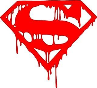 SUPERMAN SYMBOL LOGO DRIPPING MELTING DECAL STICKER ~ Die Cut Decal Sticker for tuck car windows laptop phone case bumper yeti cup mugs helmet car door wall decoration ~ 6