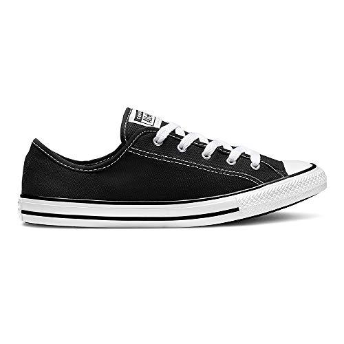 Converse Chuck Taylor All Star Dainty Low Ox Sneaker Damen schwarz/weiß, 9.5 US - 41 EU - 7 UK