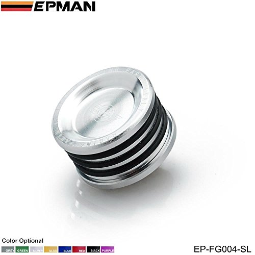 EPMAN Racing Engine Billet Cam Plug Seal For B16 B18 B20 H22 H23 F20 Engine (Silver)