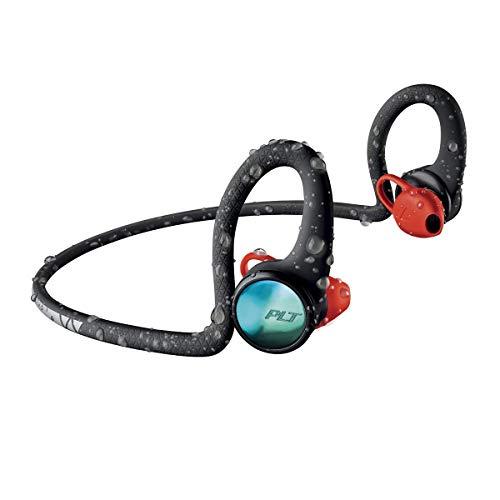 Plantronics BackBeat FIT 2100 Wireless Headphones, Sweatproof and Waterproof in Ear Workout Headphones, Black (Renewed)