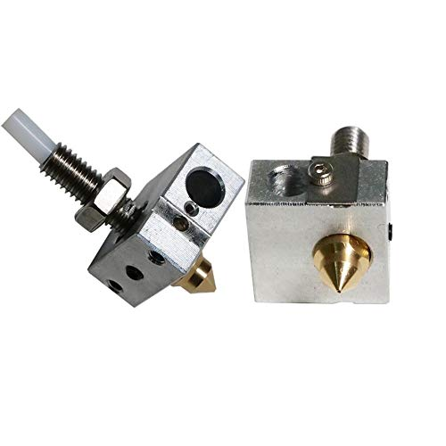 ZXC 3D Printer Nozzle Suite Z-603S A8 A8S Including Nozzle 0.4mm Heating Block Throat (Size : Z 603S)