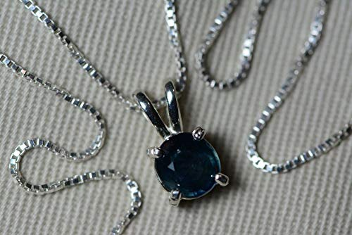 Unheated GIA Certified Blue Sapphire OFFicial site Pendant On Carat 1.22 1 year warranty Sterl