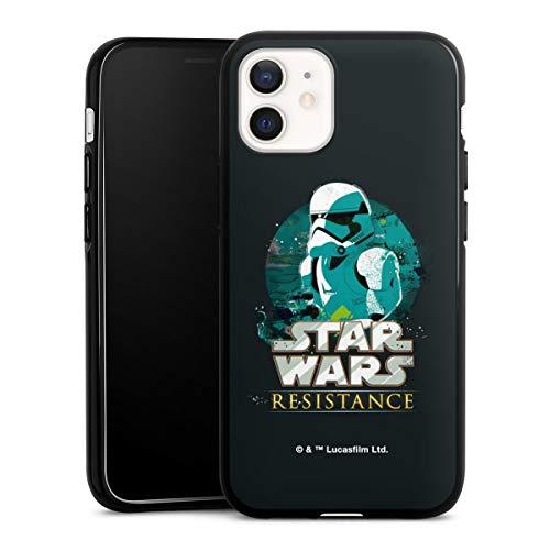DeinDesign Silikon Hülle kompatibel mit Apple iPhone 12 Mini Case schwarz Handyhülle Stormtrooper Star Wars Fanartikel