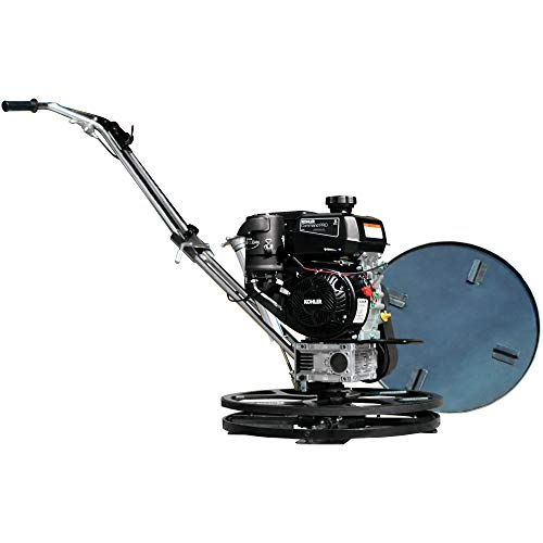 TOMAHAWK 24' Power Trowel Edger Walk Behind Gas Power 6 HP Kohler Engine with Blades 24' Float Pan for Concrete Finishing Cement Floor Surface