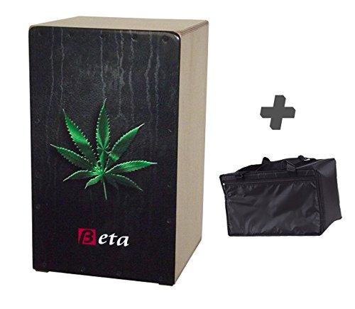 Cajón flamenco Beta mod 'Marihuana' + funda de transporte - Caja de...