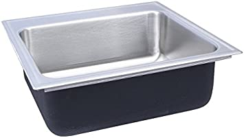 Just Sl 2125 A Gr 3 Single Bowl 18 Gauge T 304 Stainless Steel Commercial Grade Drop In Sink Amazon Com