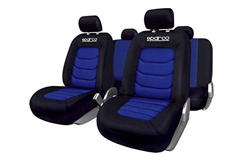 SPARCO SPC1019AZ Sitzbezug schwarz/blau 100% Polyester, Blue