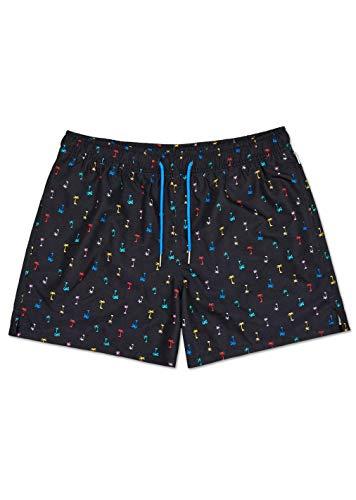 Happy Socks – Farbenfrohe, modisch gemusterte Badehosen für Männer, Palm Beach, XXL