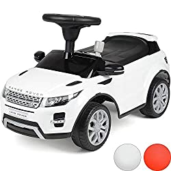 LICENSED RANGE ROVER RIDE-ON CAR: Give little ones a taste of life in the fast lane with this licensed Range Rover Evoque Ride-On Car. Scaled-down version of the classic SUV features iconic Range Rover logo on the front and realistic details for ulti...