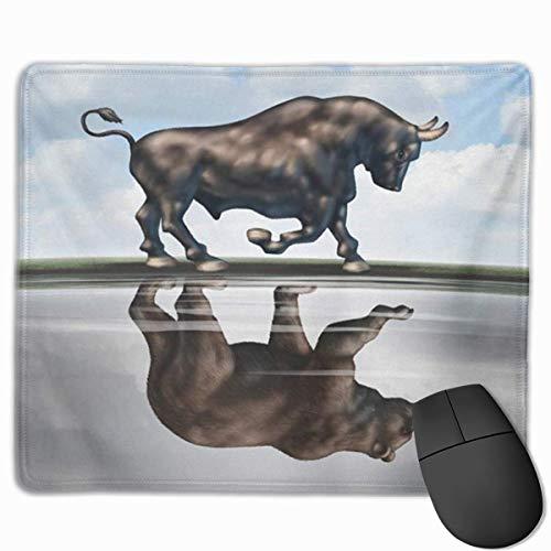 Niedliches Gaming-Mauspad, Schreibtisch-Mauspad, kleines Mauspad für Laptop-Computer, Mausmatte, die Warnzeichen als Metapher der Finanzbörse mit Bull Creating investiert