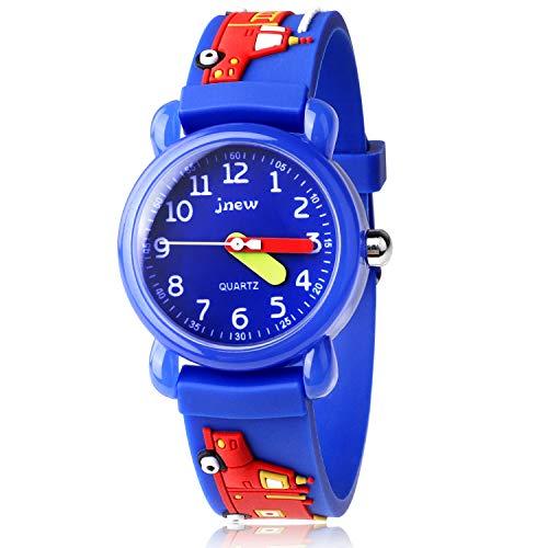 Kinder Uhr, Armbanduhr für Kinder Jungen und Mädchen, 30M wasserdichte Analog Quarzuhr, 3D Cute Cartoon Uhr, Digitale Kinderuhr, Teaching Handgelenk Uhren mit Silikon Armband, Kids Watch.