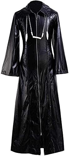 YBINGA Disfraz de cosplay Sky Organization XIII Kingdom Hearts Abrigo largo Roxas traje con cremallera chaqueta traje Cosplay accesorios (color: negro, tamaño: XL)