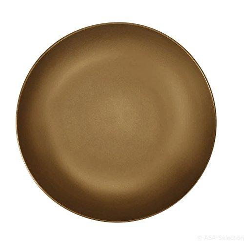 ASA Assiette à pâtes, Céramique, Or, 31 cm
