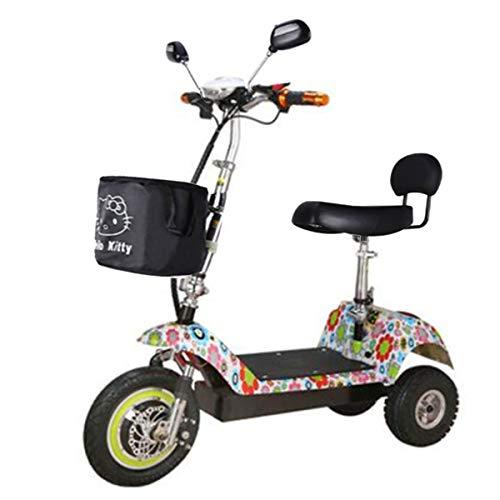 \t Scooter Eléctrico, Adulto, Mini Triciclo Eléctrico, Batería De Litio Plegable, Batería (Color Múltiple) Multi-Colored