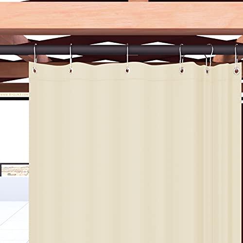 Byour3 Outdoor Markisen Mit Ringen Sichtschutz Außenmarkisen Wasserdichtes Anti Schimmel Waschbarer Sonnenschutz Stoffe Für Seitlichen Pavillon Pergola Balkon (Elfenbein Qualität A++, B 150x315 L)
