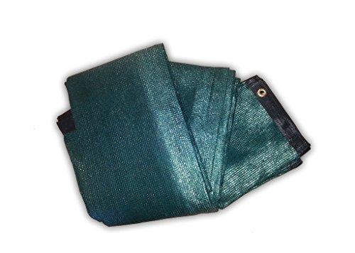 Bauzaunnetz Bauzaungewebe Sichtschutz grün - Abmessung: 3410 x 1760 mm (Fertigmaß) - 7 Stück