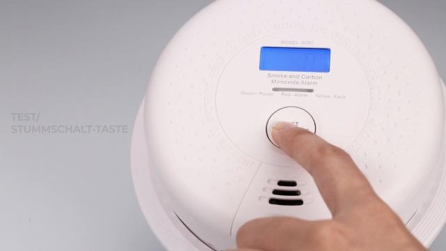 41G1UgsBKKL X-Sense Rauch- Kohlenmonoxid Melder 10-Jahres-Rauch- und CO-Alarm, mit LCD Anzeige und Prüftaste, geprüft nach DIN…