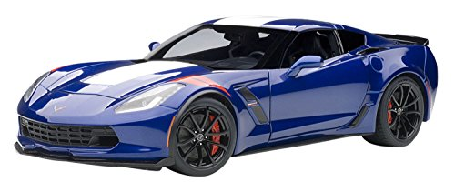 AUTOart-Chevrolet Corvette, 71275, Azul/Blanco
