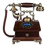 ZHAS Fourniture Téléphone Filaire Téléphone rétro européen Double Support en...