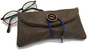 Etui à lunette à personnaliser, pochette molletonnée, housse en tissu simili cuir couleur au choix - Cadeaux...