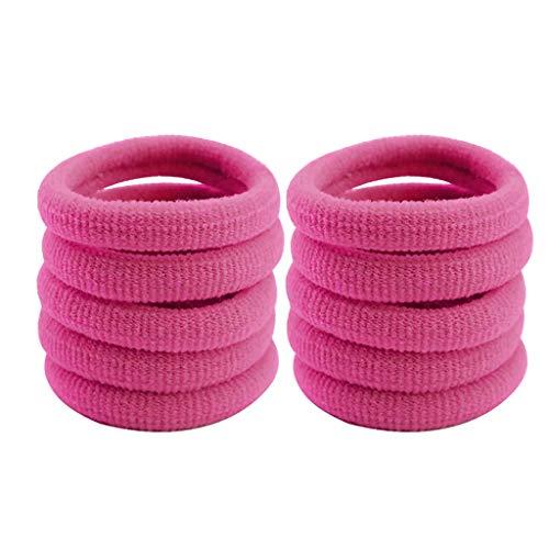 FiedFikt 10 piezas de coleta para niñas con forma de círculo, bandas elásticas para la cabeza para mujeres y niñas, anillo para el pelo para el pelo para niñas, estilo de cabeza (K)