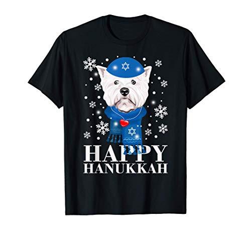 Happy Hanukkah West Highland White Terrier Dog Gifts T-Shirt