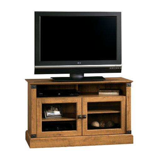Big Sale Sauder Registry Row Panel TV Stand, Amber Pine