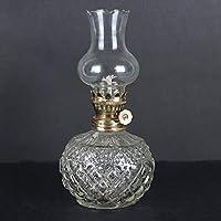 オイルランプガラス灯油古いビンテージオイルシェードオイルガラス透明な透明オイルランプ18cm以内