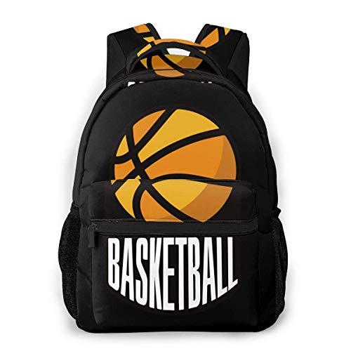 Baloncesto Impresión Personalizada Única Casual Mochila Escolar Mochila Viaje Regalo Mochila