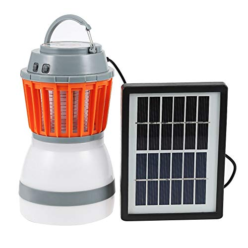 Lai-LYQ 2-in-1-LED-Camping-Licht, Solar-/USB-Ladegerät, Schädlingsvertreiber – Solar, plastik, Solar, Solar