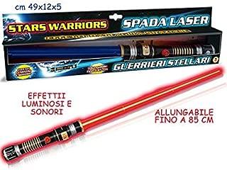Teorema- Stars Warriors Giocattolo Spada Laser con Luci e Suoni, Multicolore, VD64118